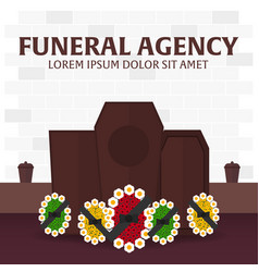 Funeral sevices and funeral agency banner vector