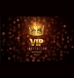 Gold crown background blurred glow effect vip vector