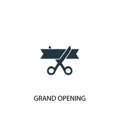 grand opening icon simple element vector image
