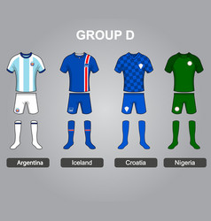 Group d team jersey vector