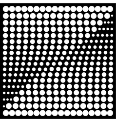 Halftone design elements square vector image