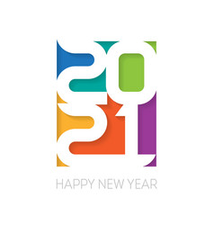 Happy new year 2021 vertical poster cover vector
