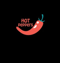 hot red pepper vector image