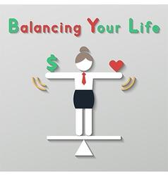 idea balance your life business concept vector image
