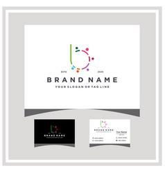 Letter b people team colorful logo design vector