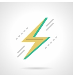 Lightning bolt flat color design icon vector image