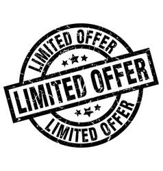 limited offer round grunge black stamp vector image