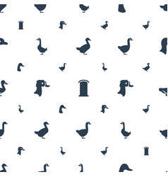 Lovely icons pattern seamless white background vector