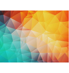 Low poly noise orange blue background vector