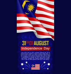 Malaysian independence day vertical flyer vector
