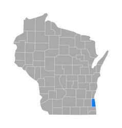 map milwaukee in wisconsin vector image