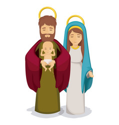 Mary and joseph with baby jesus design vector