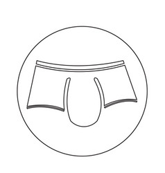 men underwear icon vector image