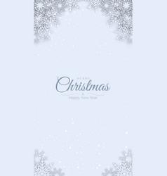 merry christmas background decorative design vector image