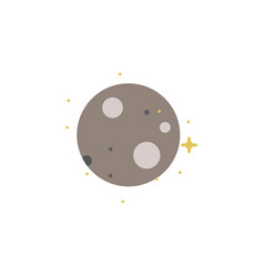 moon satellite colored icon element of space vector image