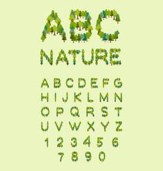 nature alphabet tree font forest alphabet letter vector image