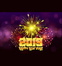 new year 2019 christmas background firework vector image