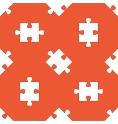 Orange puzzle pattern vector