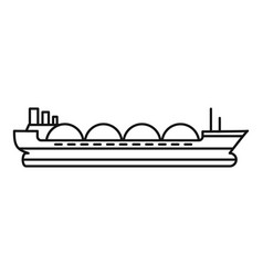 Petrol tanker ship icon outline style vector