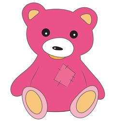 Pink teddy bear vector