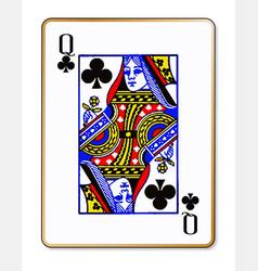 Queen clubs vector