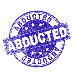 Scratched textured abducted stamp seal vector
