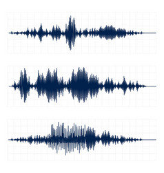 Seismograph chart seismic activity diagram radio vector