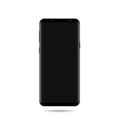 Smart phone mock up with screen black vector
