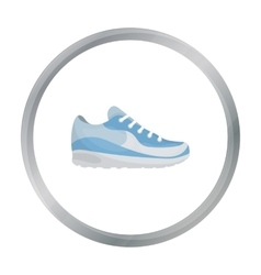 Sneakers icon in cartoon style isolated on white vector