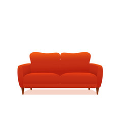 sofa and couch red colorful cartoon vector image