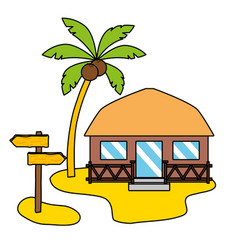 summer time holiday bungalow vector image
