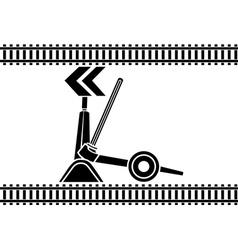 Switch arrows railway stencil vector