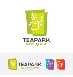 tea park logo vector image