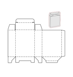 Template of a simple Box Cut out of Paper or vector