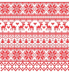 Traditional red nordic pattern vector