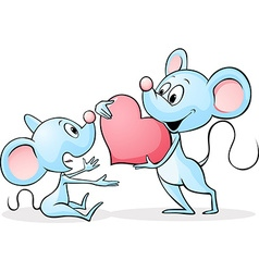 Two mouses in love vector