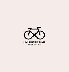 Unlimited bike simple logo template vector