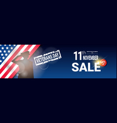 Veterans day sale celebration shopping promotions vector