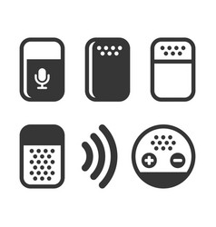 voice device smart assistant icons set vector image