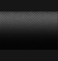 wall on dark background stonewall bricks banner vector image