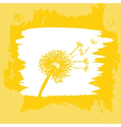 Watercolor graphic dandelion vector image