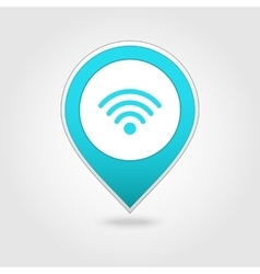 Wi-Fi map pin icon vector image
