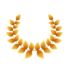 wreath gold award icon vector image