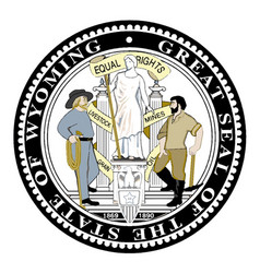 wyoming state seal vector image