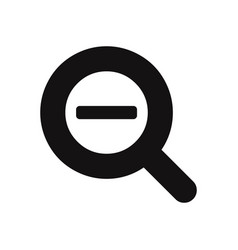 zoom out magnifier glass icon vector image