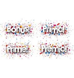 Bonus paper backgrounds vector image vector image