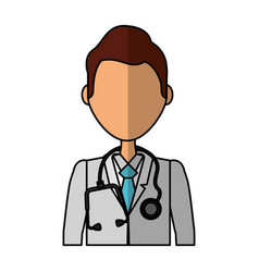 professional doctor avatar character vector image vector image