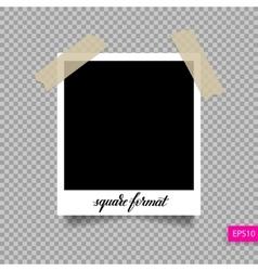 retro square polaroid photo frame template vector image