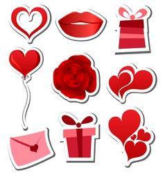 Valentines day sticker set vector image vector image