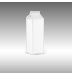 Blank grey juice or milk packaging with label vector image